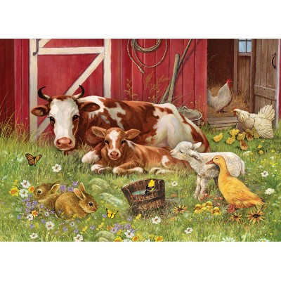 Puzzle  Cobble-Hill-54630 XXL Teile - Barnyard Babies