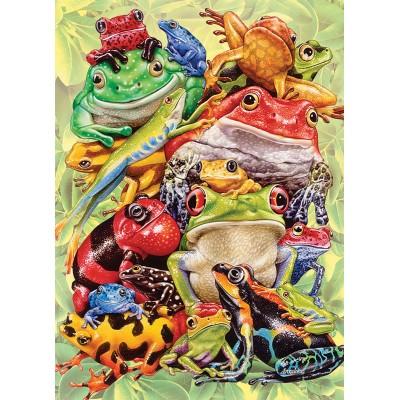 Puzzle  Cobble-Hill-54632 XXL Teile - Frog Pile