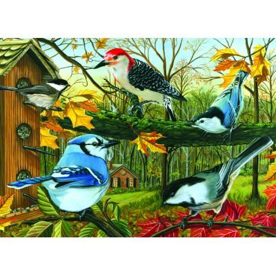 Puzzle  Cobble-Hill-57125 Der Blaue Eichelhäher und seine Freunde
