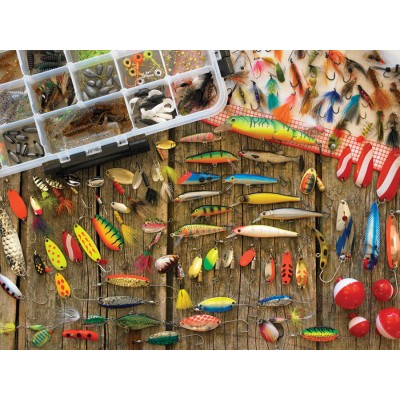 Puzzle  Cobble-Hill-57149 XXL Teile - Fishing Lures