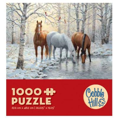 Puzzle Cobble-Hill-57157 Pferdetrio