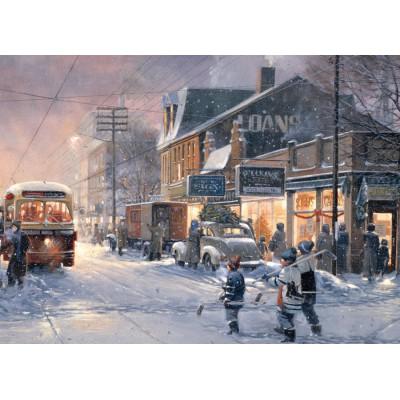 Puzzle Cobble-Hill-57174 Hockey Night