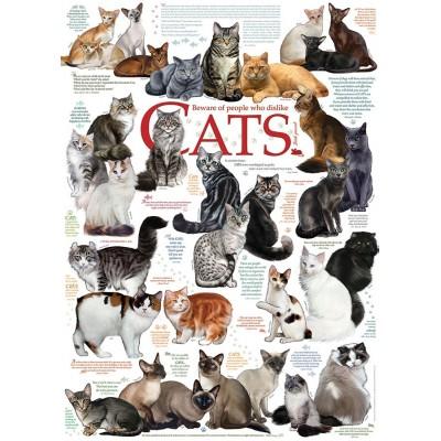 Puzzle  Cobble-Hill-57194 Die Katzen