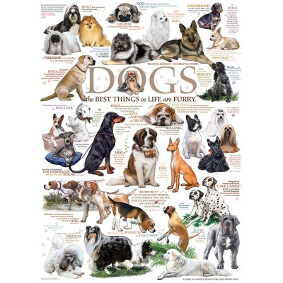 Puzzle  Cobble-Hill-57195 Die Hunde