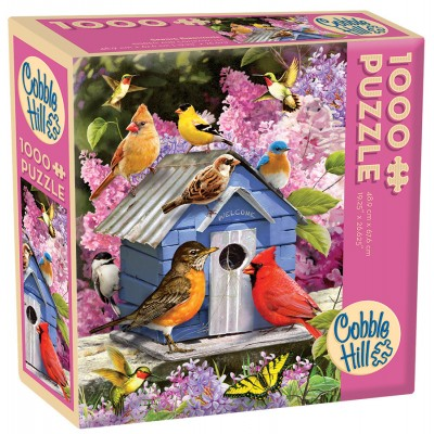 Puzzle  Cobble-Hill-57220 Spring Birdhouse