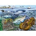 Cobble-Hill-58804 Rahmenpuzzle - Life in the Atlantic Ocean