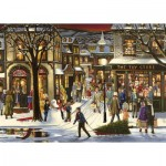 Puzzle  Cobble-Hill-58873 Downtown Christmas