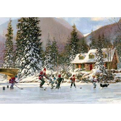 Puzzle  Cobble-Hill-58874 Hockey Pond