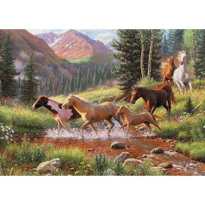 Puzzle Cobble-Hill-58875 Horse Stream