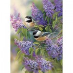 Puzzle  Cobble-Hill-58877 Chickadee Duo