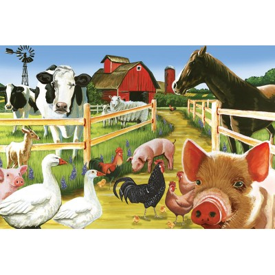 Puzzle  Cobble-Hill-58880 Farmyard Welcome