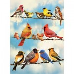 Puzzle  Cobble-Hill-58888 Blue Sky Birds