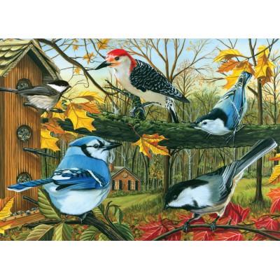 Puzzle  Cobble-Hill-70010 Das Vogelhäuschen