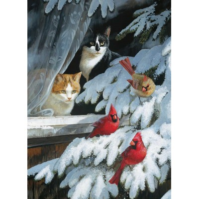 Puzzle  Cobble-Hill-70041 Jack Pine - Bird Watchers