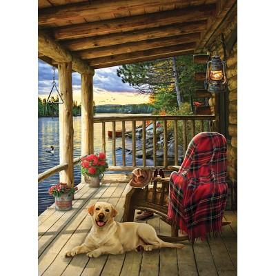 Puzzle Cobble-Hill-70049 Jack Pine - Cabin Porch