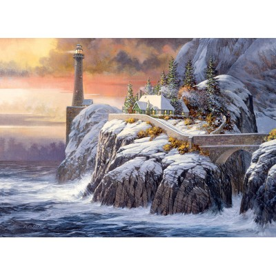 Puzzle  Cobble-Hill-80026 Winter Lighthouse