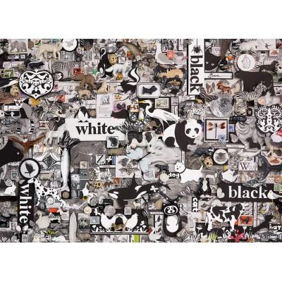 Puzzle Cobble-Hill-80033 Black & White: Animals