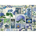 Puzzle  Cobble-Hill-80043 Blue Flowers