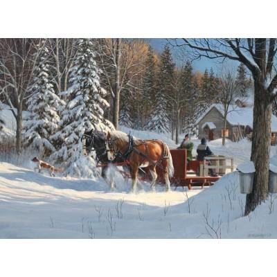 Puzzle  Cobble-Hill-80067 Sugar Shack Horses