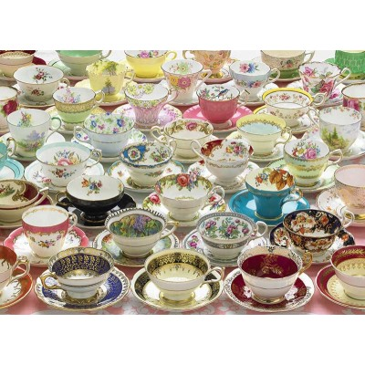 Puzzle  Cobble-Hill-80084 More Teacups