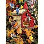 Puzzle  Cobble-Hill-80100 Fall Birds