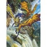 Puzzle  Cobble-Hill-80105 Waterfall Dragons