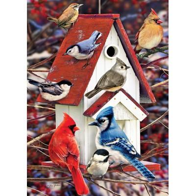 Puzzle Cobble-Hill-80122 Greg Giordano -  Winter Birdhouse