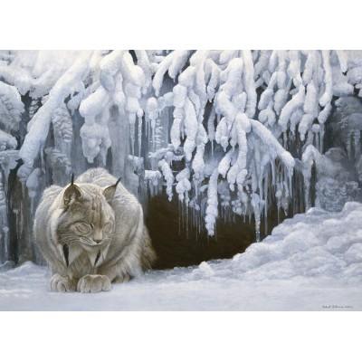 Puzzle  Cobble-Hill-80123 Dozing Lynx