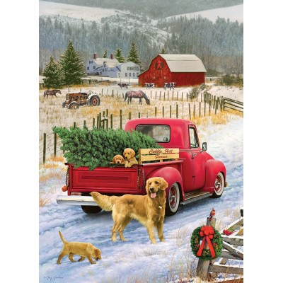 Puzzle Cobble-Hill-80127 Christmas on the Farm