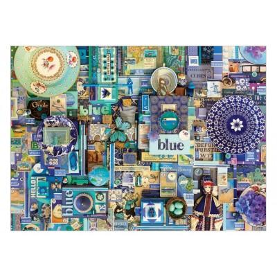 Puzzle Cobble-Hill-80150-57218 Shelley Davies: Blue