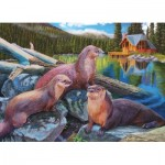 Puzzle  Cobble-Hill-80164 River Otters