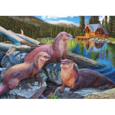 Puzzle Cobble-Hill-80164 River Otters