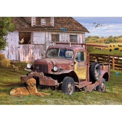 Puzzle  Cobble-Hill-80199 Summer Truck