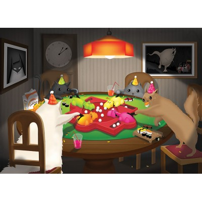 Puzzle  Cobble-Hill-80205 Cats Playing Hippos