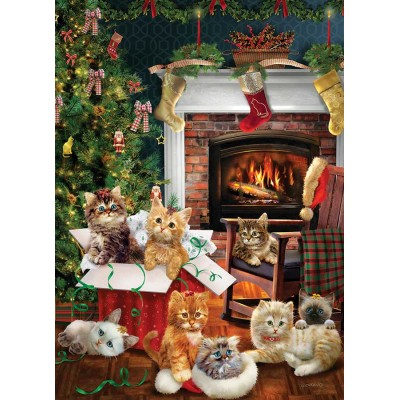 Puzzle Cobble-Hill-80242 Christmas Kittens
