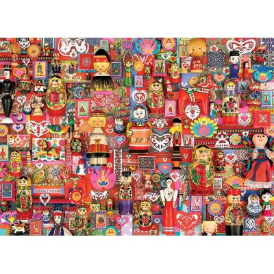 Puzzle Cobble-Hill-80265 Dollies