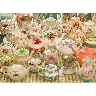 Puzzle  Cobble-Hill-80281 Teapots Too