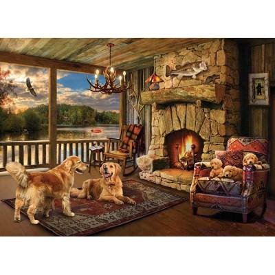 Puzzle Cobble-Hill-80294 Lakeside Cabin