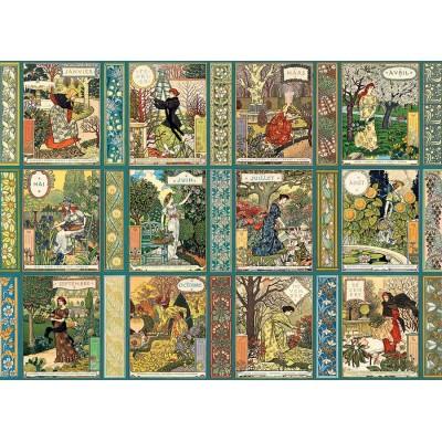 Puzzle Cobble-Hill-80311 Jardiniere - A Gardener's Calendar
