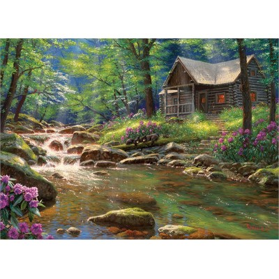 Puzzle Cobble-Hill-80313 Fishing Cabin
