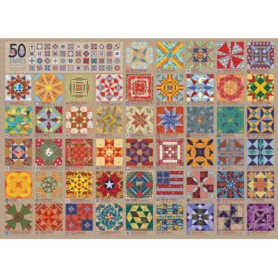 Puzzle Cobble-Hill-80314 50 States Quilt Blocks