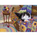 Puzzle  Cobble-Hill-80316 Comfy Cat