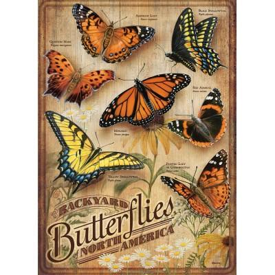 Puzzle Cobble-Hill-85006 XXL Teile - Backyard Butterflies