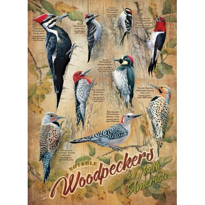 Puzzle Cobble-Hill-85007 XXL Teile - Notable Woodpeckers
