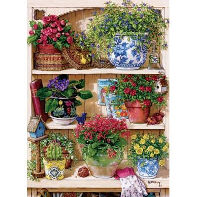 Puzzle Cobble-Hill-85015 XXL Teile - Flower Cupboard