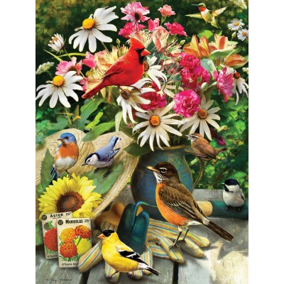 Puzzle  Cobble-Hill-85035 XXL Teile - Garden Birds