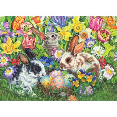 Puzzle  Cobble-Hill-85047 XXL Teile - Easter Bunnies