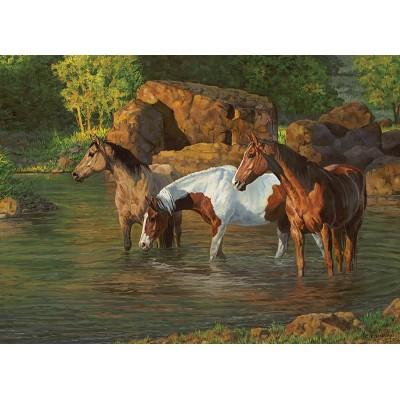 Puzzle Cobble-Hill-85051 XXL Teile - Horse Pond