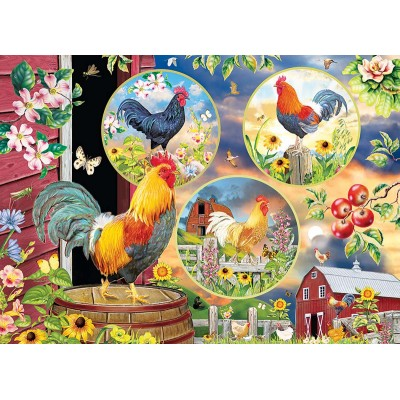 Puzzle Cobble-Hill-85058 XXL Teile - Rooster Magic