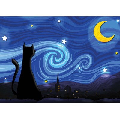Puzzle  Cobble-Hill-85063 XXL Teile - Mrowwy Night